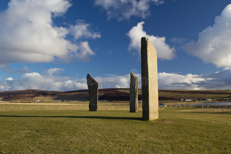 Standing Stones, Stenness, Orkney stock image