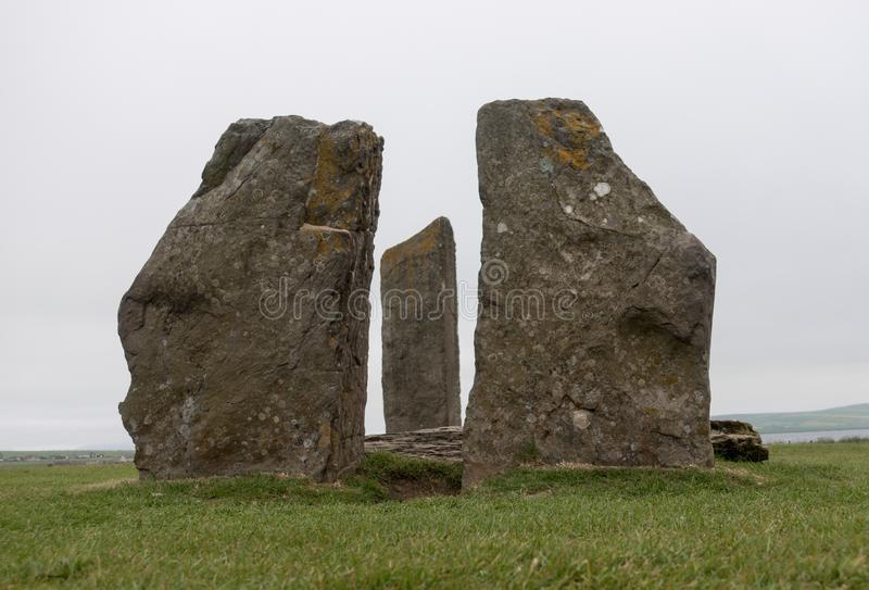 Standing Stones of Stenness, Scotland royalty free stock images