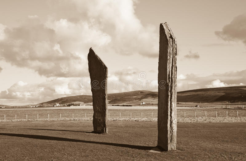 Standing Stones World Heritage Site stock photo