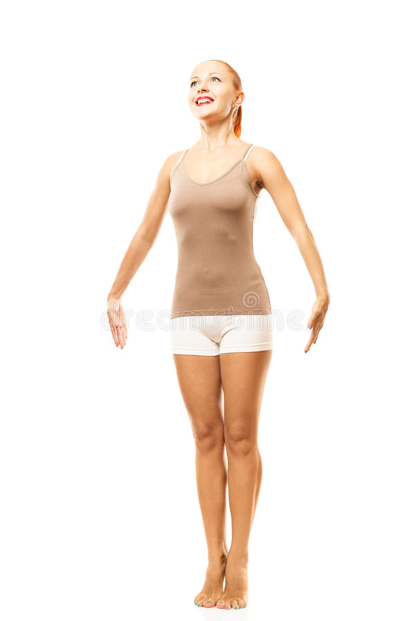 Standing On Tiptoes Stock Images
