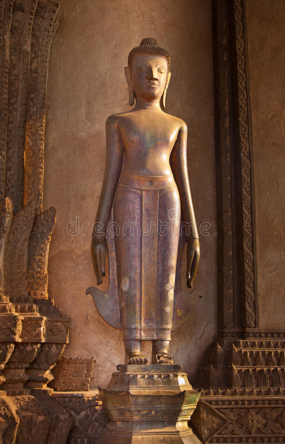 Download Standing Vintage Buddha Image Stock Photo - Image: 17668060