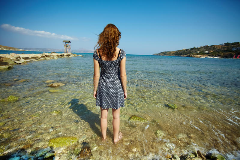 Download Standing in water stock photo. Image of pose, caucasian - 26269022