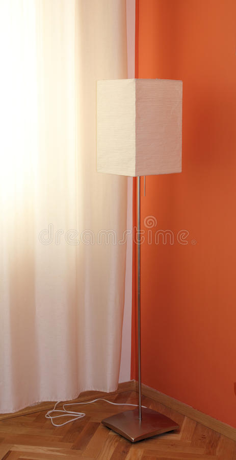 Standing white lamp royalty free stock images