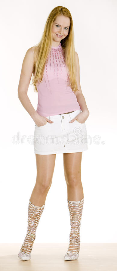 Standing woman royalty free stock photos