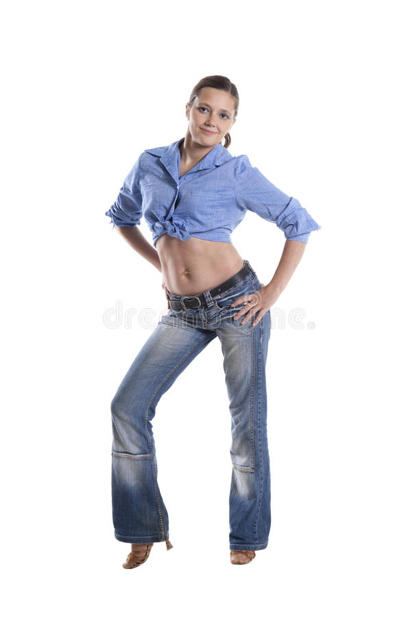 Standing woman stock images