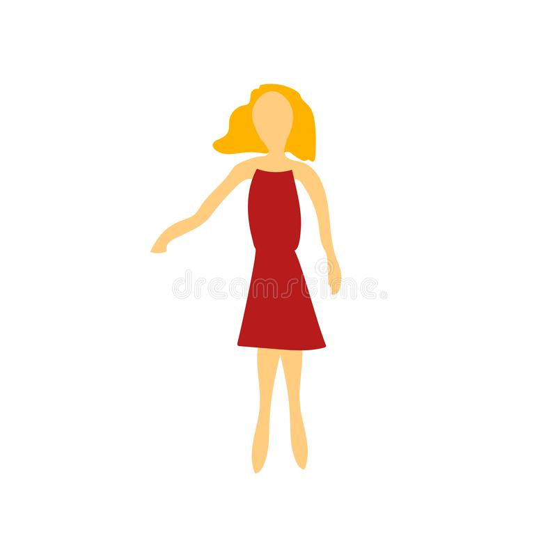 Standing woman vector vector sign and symbol isolated on white background, Standing woman vector logo concept vector illustration