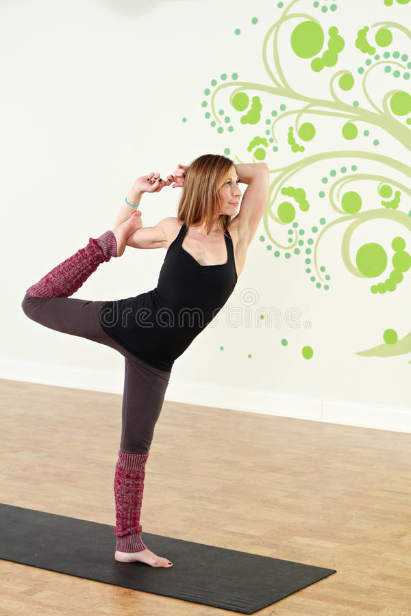 Standing Yoga stock photography
