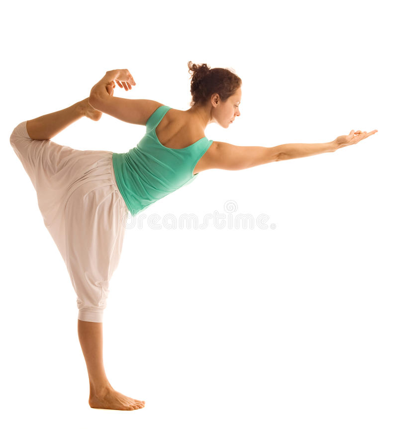 Download Standing in yoga pose stock image. Image of activity - 27989195