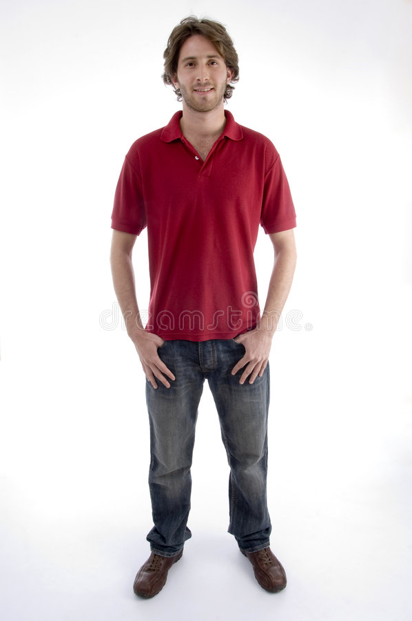 Free Standing Young Man Looking At You Royalty Free Stock Photos - 6988868