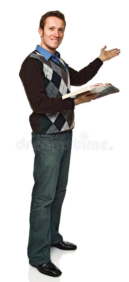 Download Standing young teacher stock image. Image of confident - 17588521