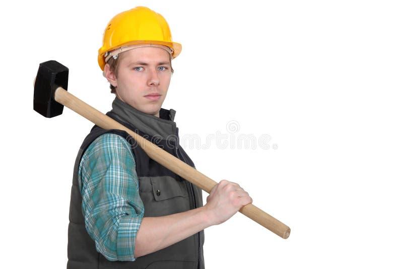 Standoffish tradesman obraz royalty free
