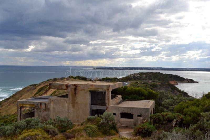 Fort Nepean Feind-Ausblick stockbild