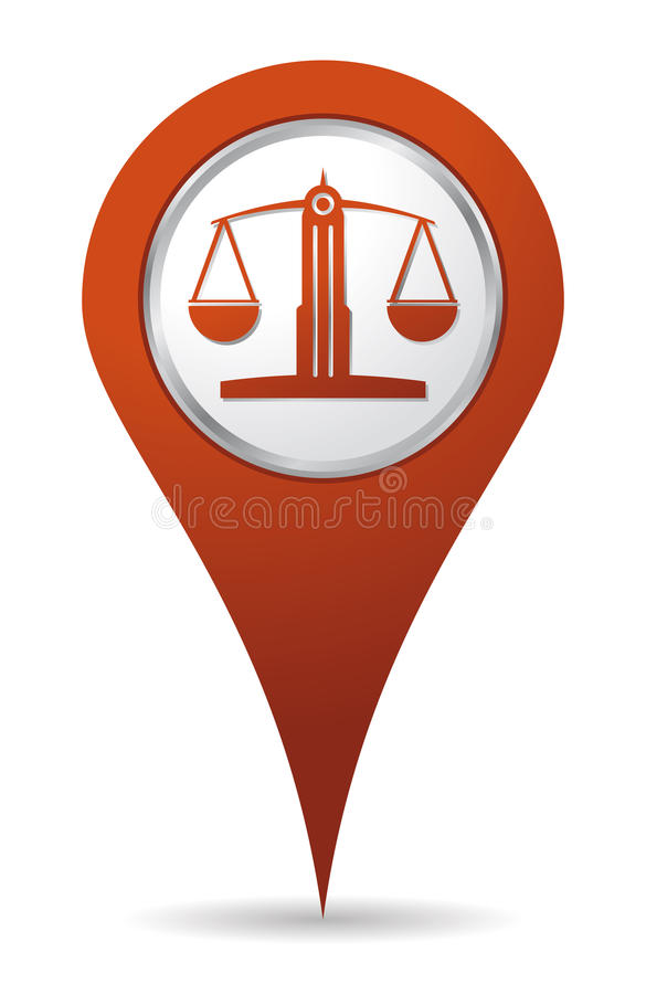 Standortrechtsanwalt-Schwerpunktikone lizenzfreie abbildung