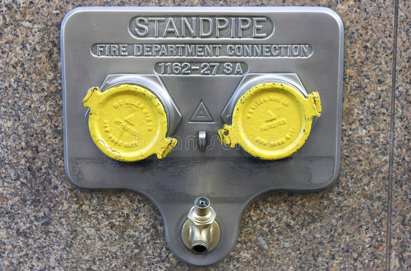 Standpipe connection royalty free stock images