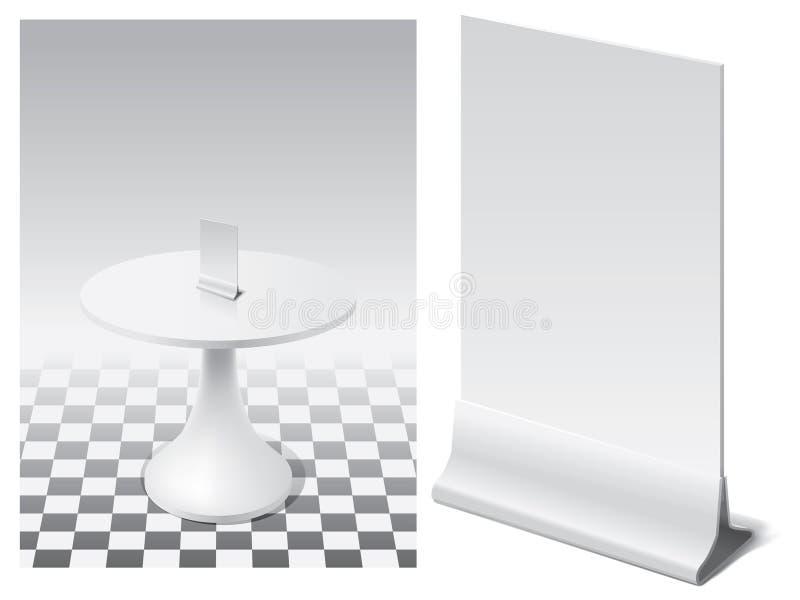 Standplatz für Menü vektor abbildung