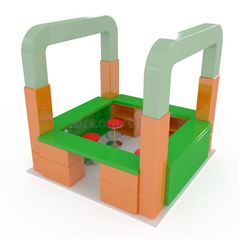 Standplatz - wenig System stock abbildung