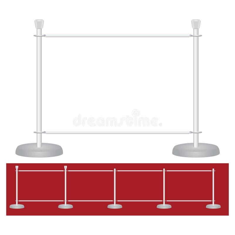Standplatzausstellungsperre stock abbildung