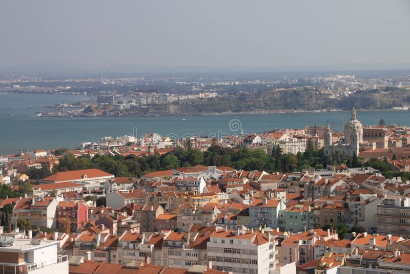 Standpunkt in Lissabon, Portugal stockfotografie