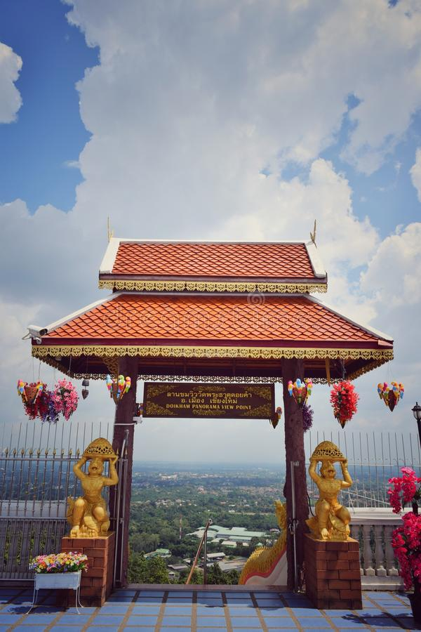 Standpunkt Wat Doi Kham View Doi Kham bei Chiang Mai Thailand lizenzfreie stockfotos