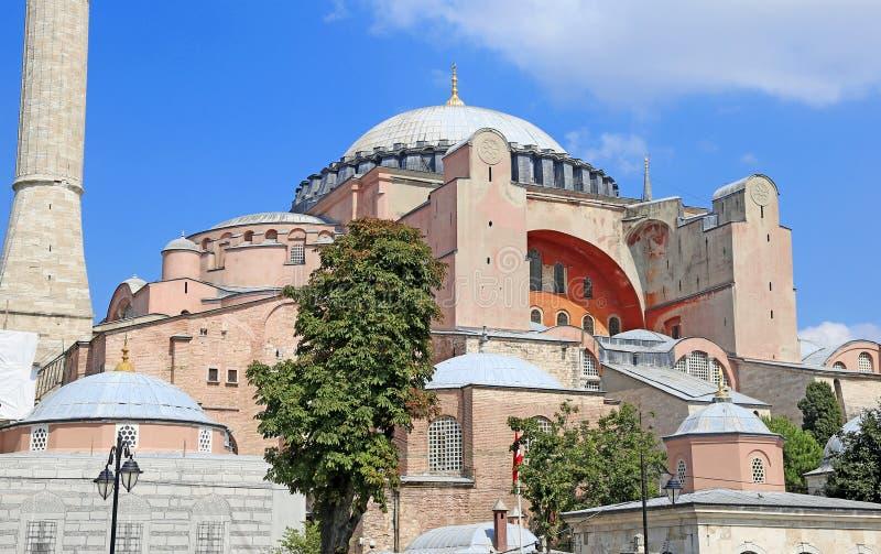 Standpunt van de Aya Sophia in Istanbul, Turkije stock foto's