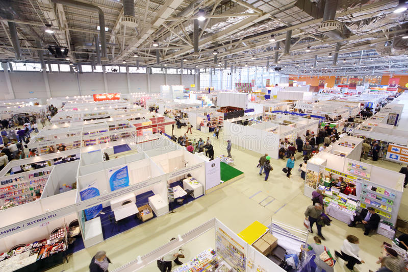 Stands Of Companies On Moscow International Book Exhibition Editorial Photography