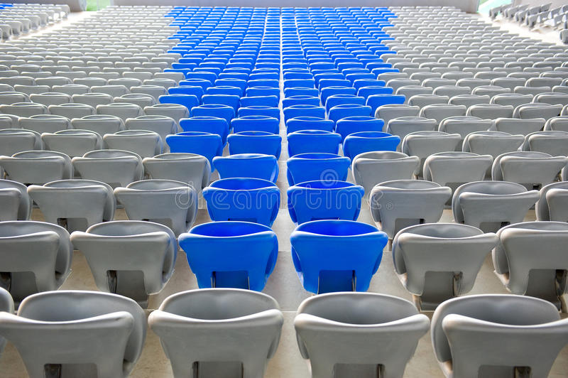 Stands du football photographie stock