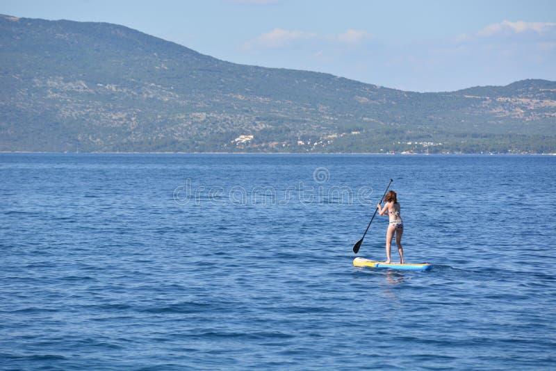 Standup paddleling arkivfoto