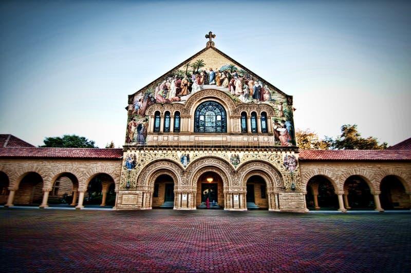 Stanford minnesmärkekyrka royaltyfria bilder