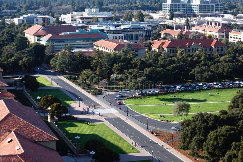 Stanford Oval da sopra fotografia stock libera da diritti