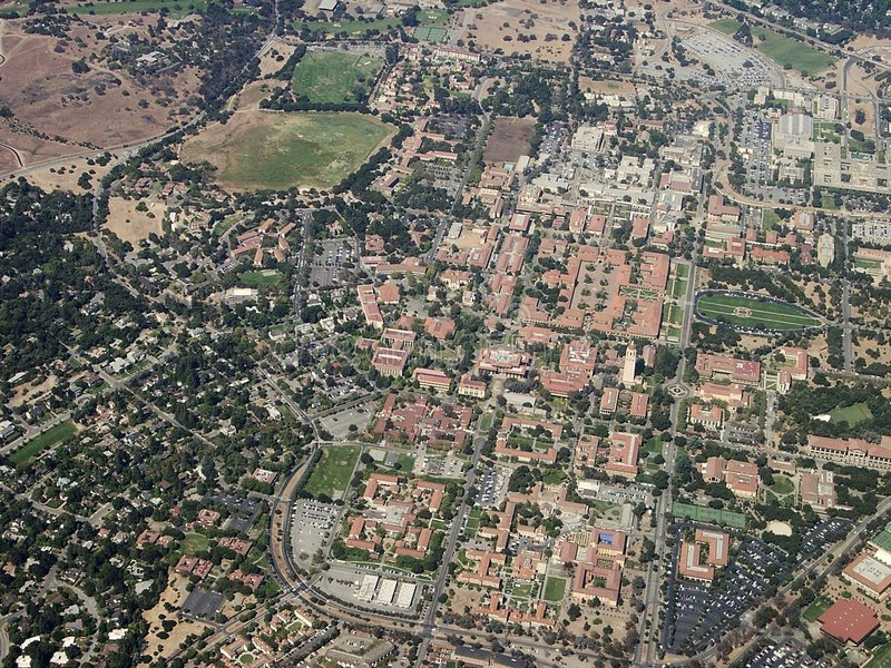 Stanford-universitet royaltyfri fotografi