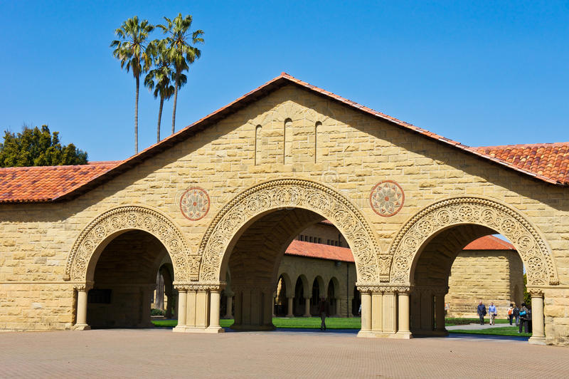 Stanford-universitet royaltyfri bild