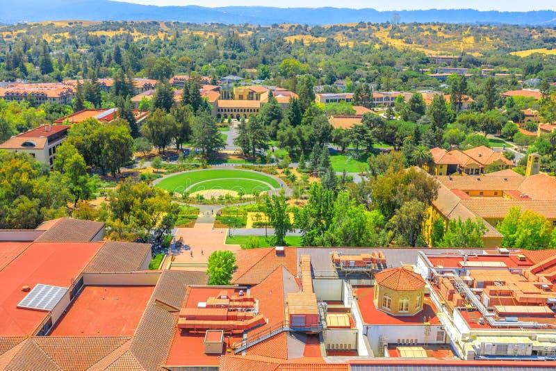 Stanford University aerial stock photo