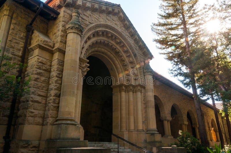 Stanford University Campus en Palo Alto, California foto de archivo