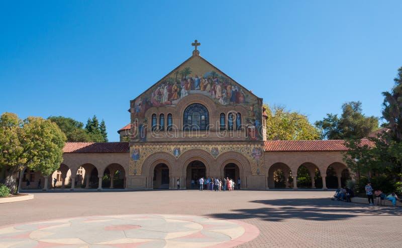 Stanford University Campus en Palo Alto, California imágenes de archivo libres de regalías