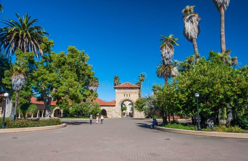 Stanford University Campus en Palo Alto, la Californie photographie stock