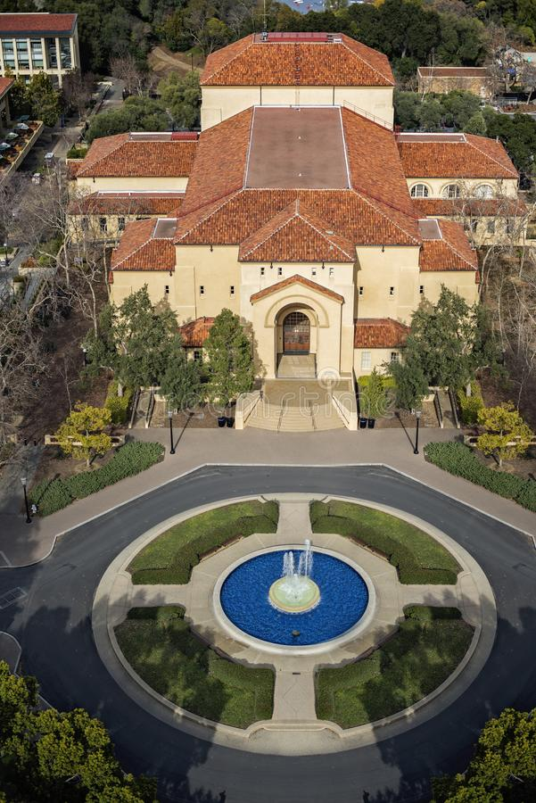 Stanford University campus view from the above stock images