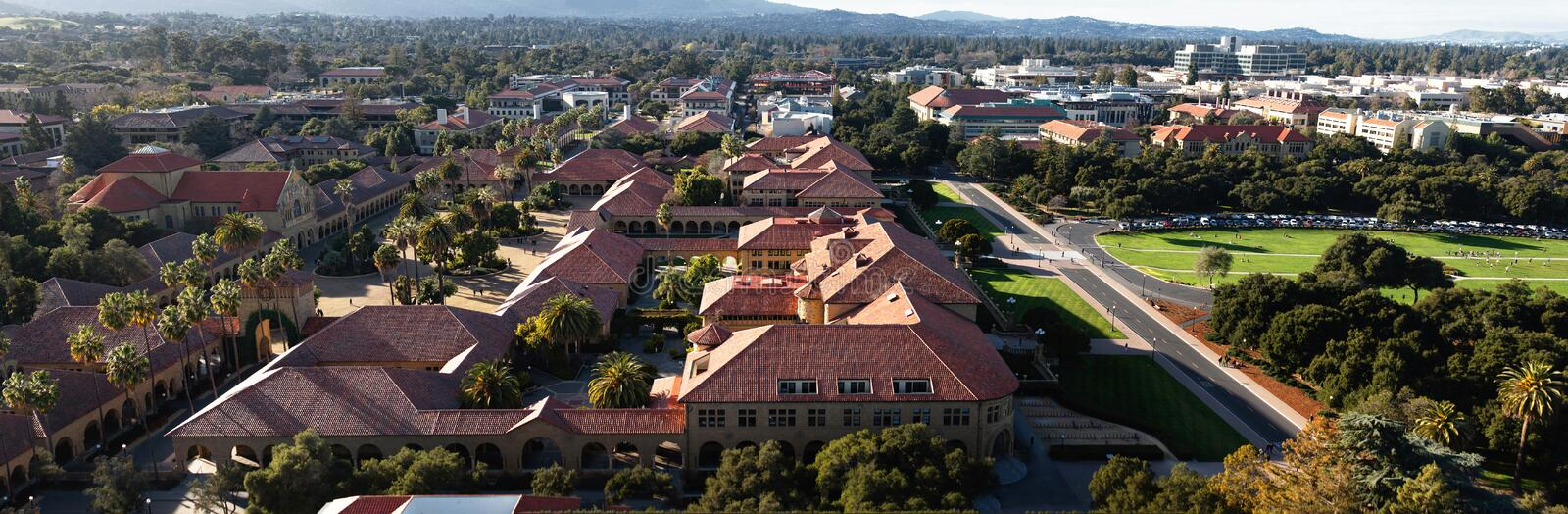 Stanford University Overview fotografia de stock royalty free