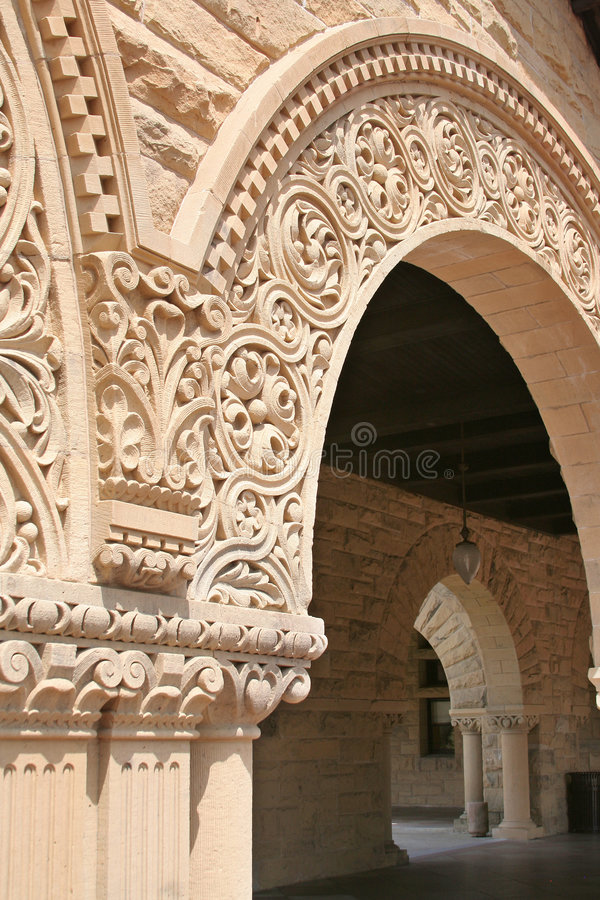 Stanford University Quad Arch Stock Photo