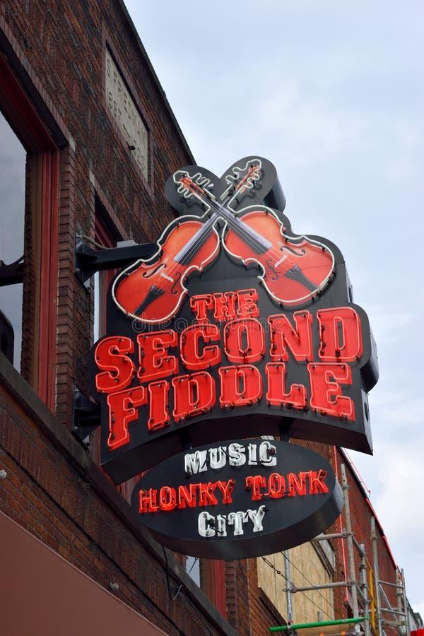 Stange der zweiten Geige in Nashville lizenzfreies stockbild