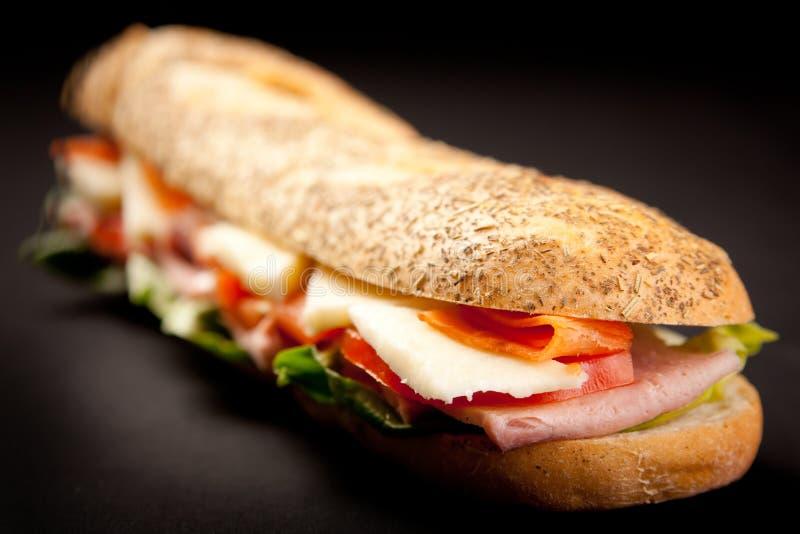 Stangenbrot-Sandwich stockfotos