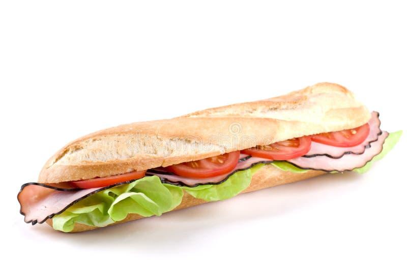 Stangenbrot-Sandwich lizenzfreie stockbilder