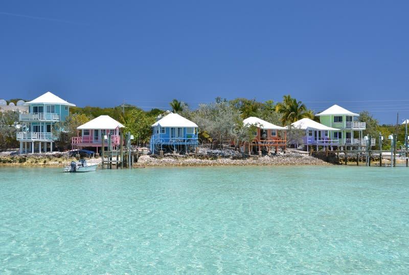 Staniel岩礁游艇俱乐部。巴哈马 库存图片