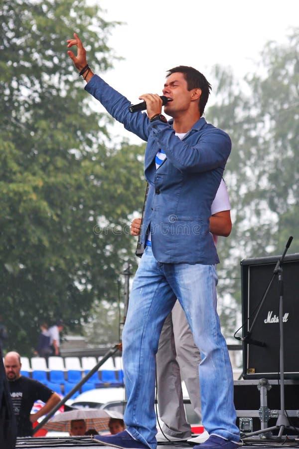 Stanislav Piatrasovich Piekha (Stas Piekha) – is een Russische populaire zanger en een acteur, en de kleinzoon van Edita Piekha royalty-vrije stock foto