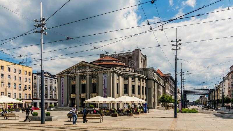 Stanislaw Wyspianski Silesian Theater image stock