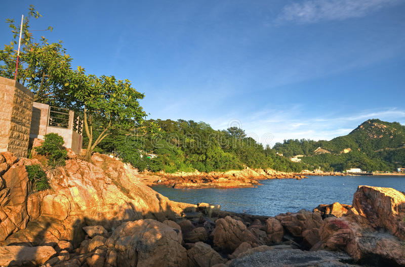 Stanley Beach in HK stock foto's