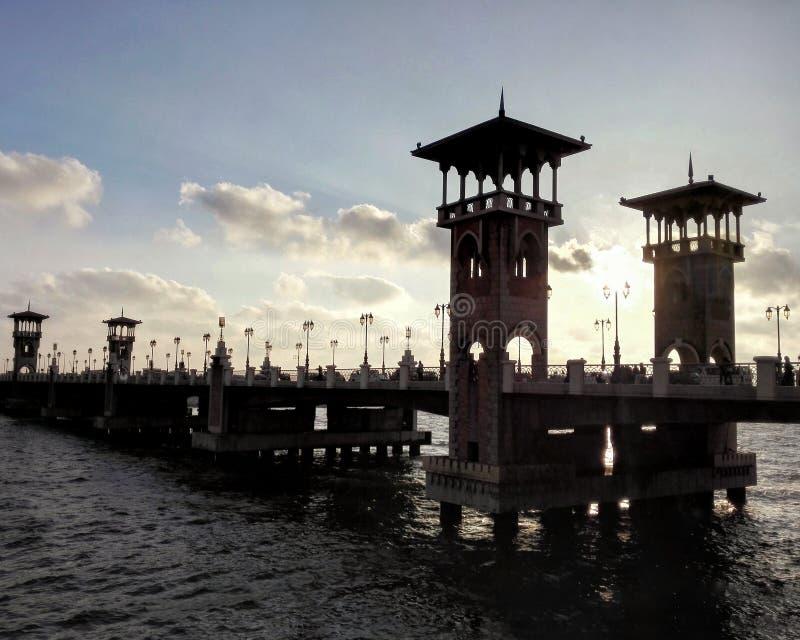 Stanley Bridge während des Sonnenuntergangs stockfotos