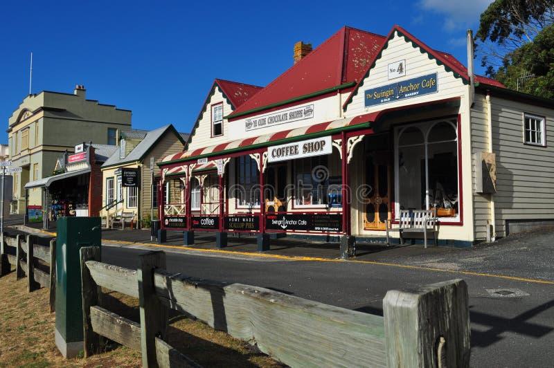 Stanley, cidade perto da porca, Tasmânia, Austrália fotografia de stock royalty free