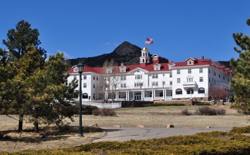Stanley Hotel è un'attrazione turistica famosa fotografie stock