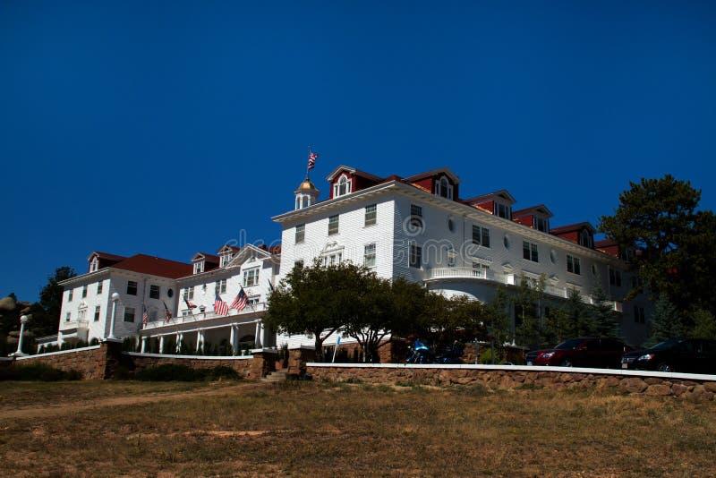 Stanley Hotel famoso en Estes Park, Colorado imagenes de archivo