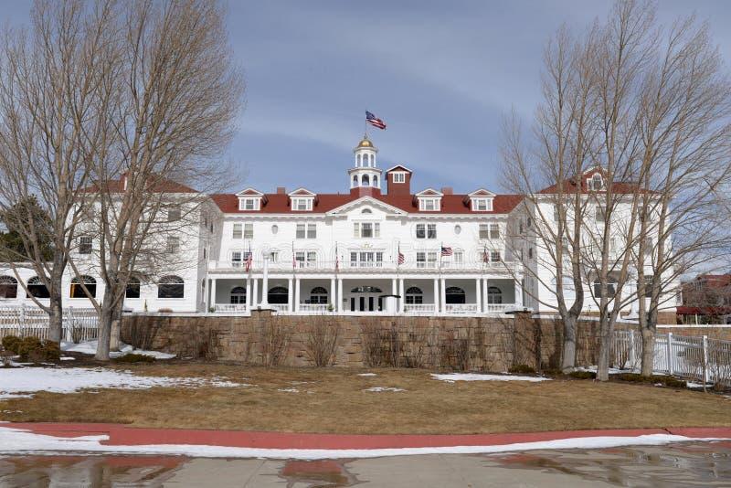 Stanley Hotel - frente fotos de archivo libres de regalías